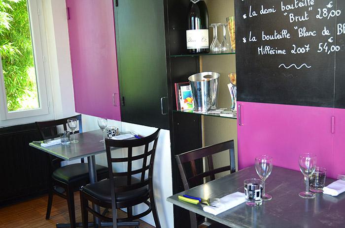 Restaurant Osmoz - salle et menu du jour - Restaurant